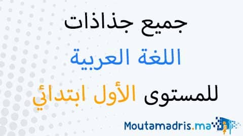 جذاذات مادة اللغة العربية للمستوى الأول ابتدائي