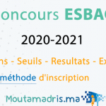 concours ESBAC 2020 2021