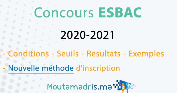 concours ESBA 2020 2021