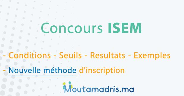 Concours ISEM Casablanca 2020-2021