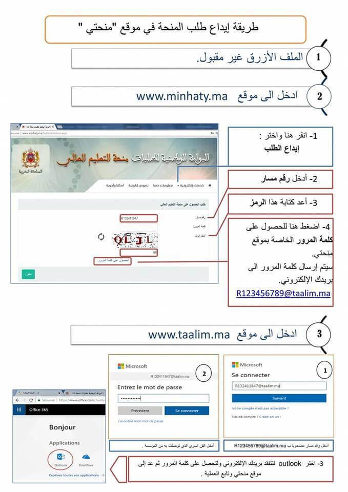 التسجيل في منحتي 2021 Minhaty