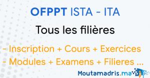 inscription OFPPT ISTA ITA 2020-2021