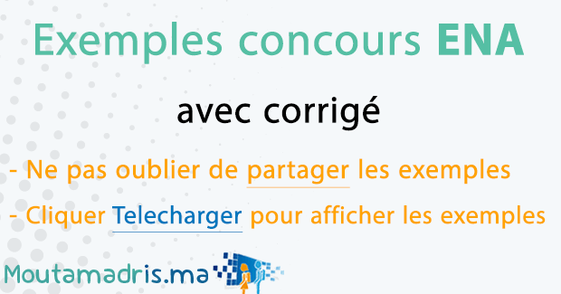 Exemple concours ENA