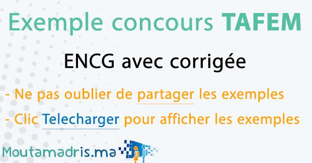Exemple concours ENCG TAFEM