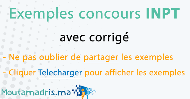 Exemple concours INPT