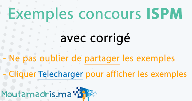 Exemple concours ISPM