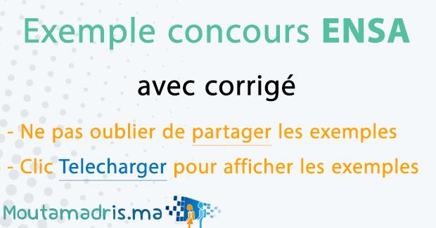 Exemple concours ENSA